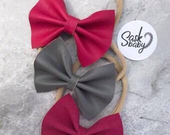 3 pack bows - nylon headband