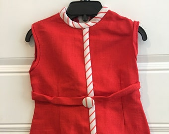 Vintage Red with Stripes Jumper (2T-3T)