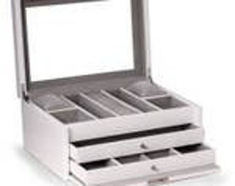 White Lacquered Jewelry Chest