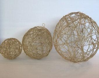 Handmade String Globe Lantern