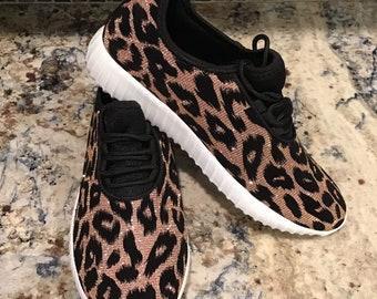 82f095c52add Glitter Leopard Print Sneakers    Glitter Kicks    Animal Print Glitter  Bomb Sneakers    Sparkle Shoes    Sparkle Sneakers    Jags Sneakers