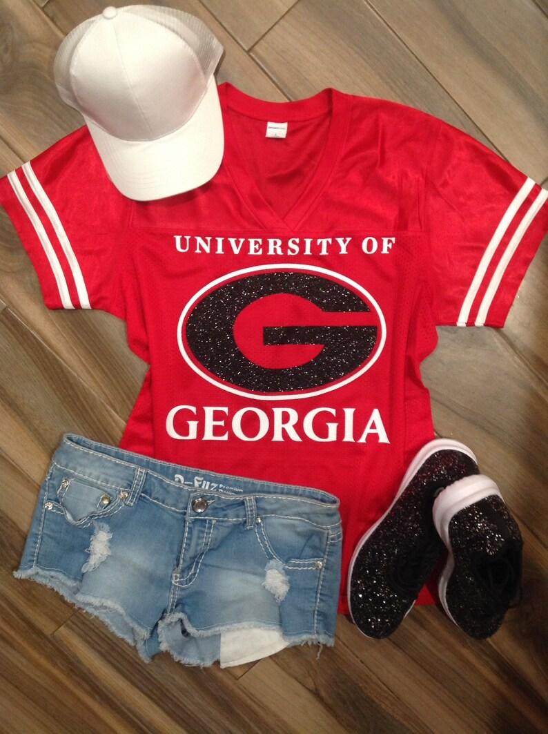 UGA Glitter Jersey    Custom UGA Jersey    Georgia Bulldogs  47a1c1668