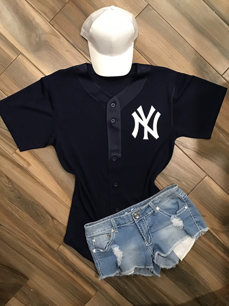 differently 7778d 4b2fc New York Yankees Inspired Glitter Jersey // Custom Yankees Glitter Tee //  New York baseball jersey// Yankees Women's Apparel // NY fans