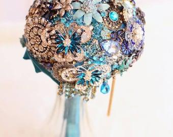 Something Borrowed, Something Blue Brooch Bouquet