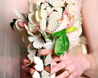 Flight of Wings bridesmaid butterfly bouquet