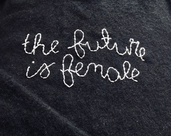 The Future Is Female Hand Embroidered Cashmere Sweater