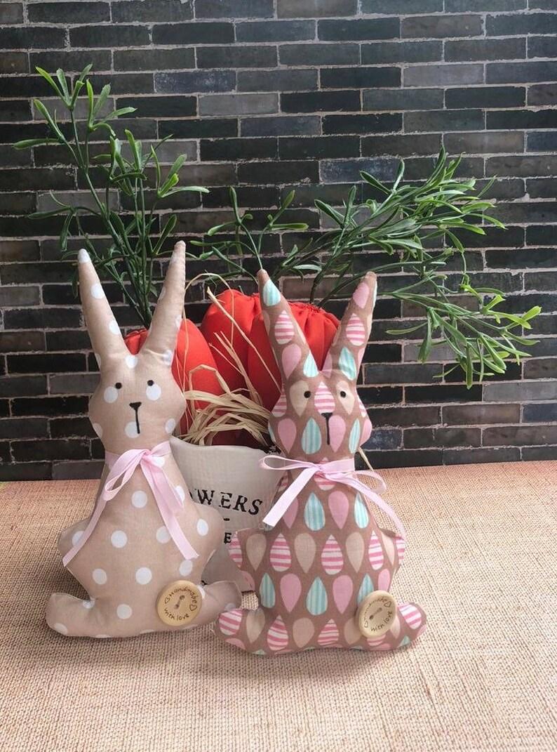 Fabric bunnies Easter bunnies Easter bunny rabbit soft toy Easter bunny toys Easter Gift Easter bunny rabbit softie Easter ornaments