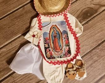 Baby Jesus Christ Outfit Juan Diego and accessories   Vestido de Niño Dios  Juan Diego y accesorios 39df2be0ffb