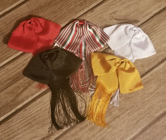 Bow tie charro Mexican party costum Elastic Band Color Khaki Fiesta Mexicana