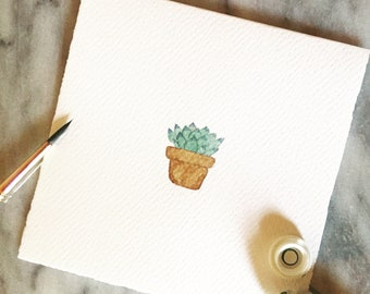 Potted Plant Notecard