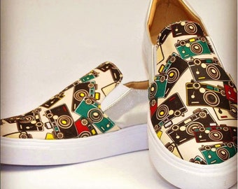 Mocassin Shoes Colombian Handmade. Tape design