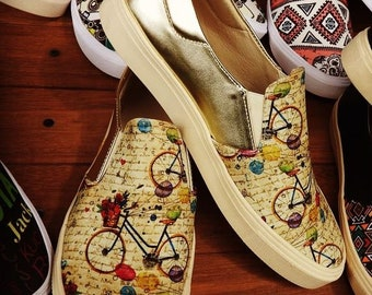 Mocassin Shoes Colombian Handmade. Bicycle Design