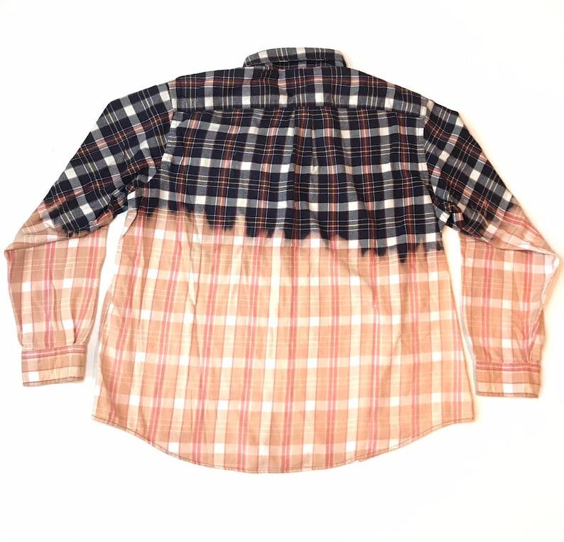 Purple Bleached Ombre Flannel Shirt