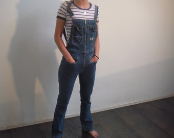 Boxy's  salopette | denim dungarees | blue vintage denim overalls  | size S | high waist | 80s | cotton