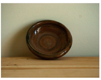 Brown Teacup and Dish