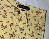 vintage high waisted polo floral pants