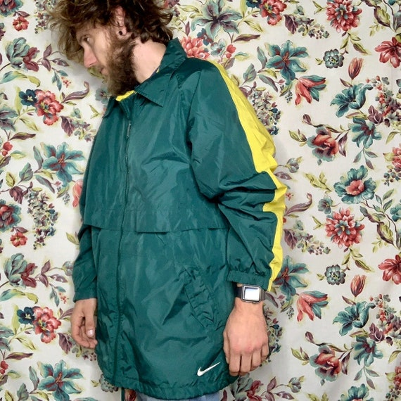 90s nike green/yellow windbreaker vintage
