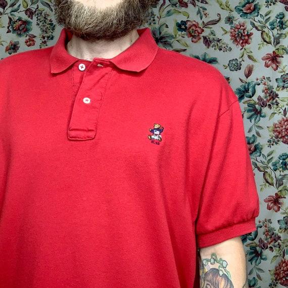rl 92 polo bear polo 90's red vintage