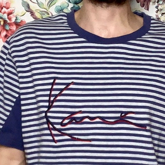 vintage kani stripe tee 90's tupac rap tee - image 2