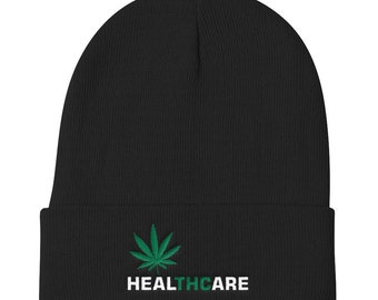 0b39f9e52 Marijuana beanie | Etsy