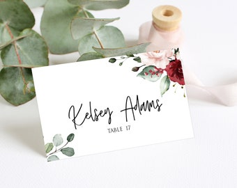 graphic about Place Card Printable named Printable Area card Etsy