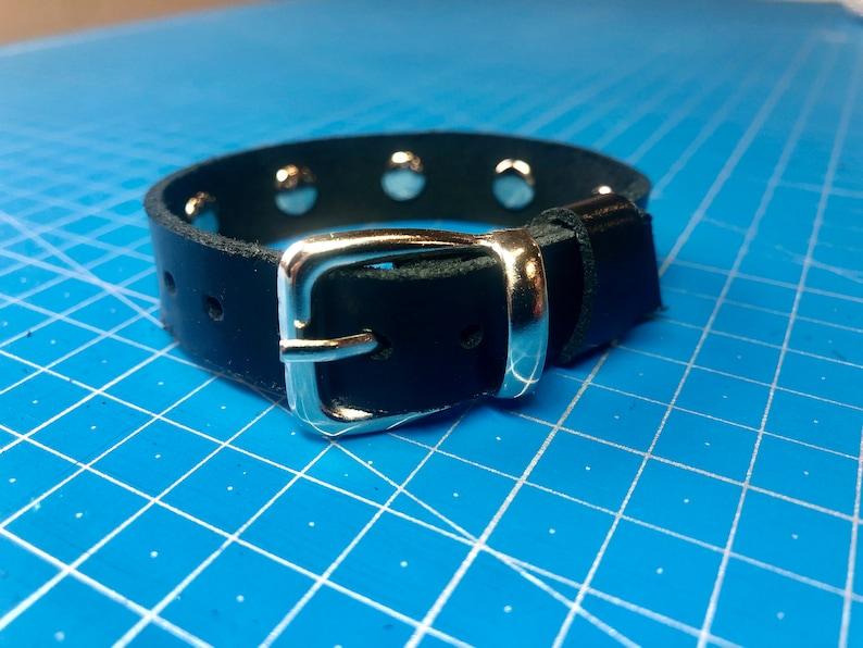 biker bracelet women/' bracelet black leather bracelet with rivets gift for her Leather thin cuff bracelet with rivets men/'s bracelet