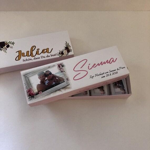 50x Gastgeschenke Schokotäfelchen Hochzeit Give Away Schokolade personalisiert