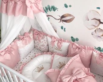 Baby Crib Set for girl: Crib Bumper Pillow Set Crib baby   Etsy