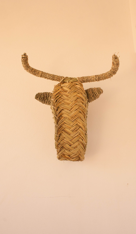 Wicker Ram\'s head alfa straw rattan animal head billy | Etsy
