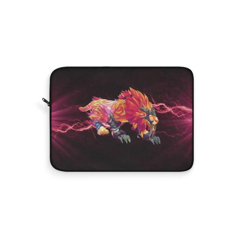 Pink and orange Feral Druid Laptop Sleeve