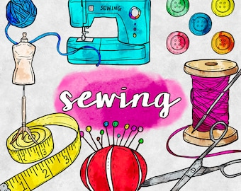 sewing clipart etsy rh etsy com sewing clip art free downloads sewing clip art printables