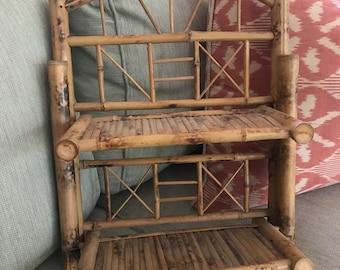 Vintage Bamboo Wall Shelf