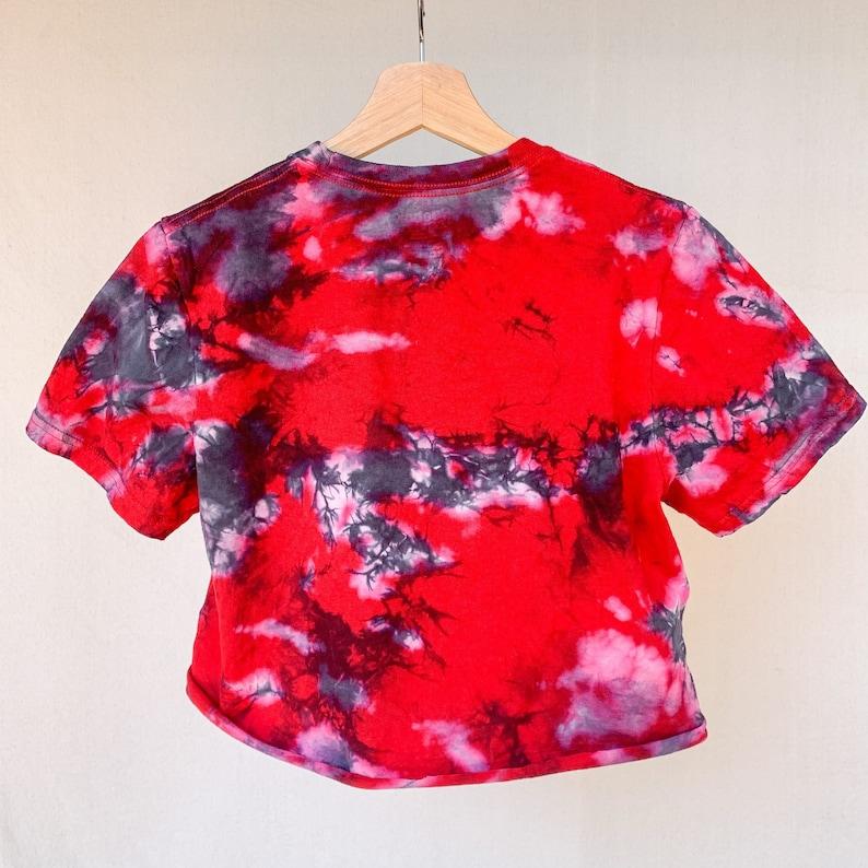 Tie Dye New Jersey Devils Hockey Cropped T-Shirt