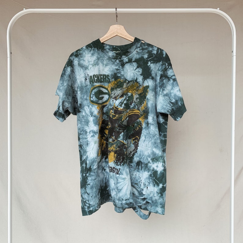 Tie Dye Distressed Green Bay Packers T-Shirt