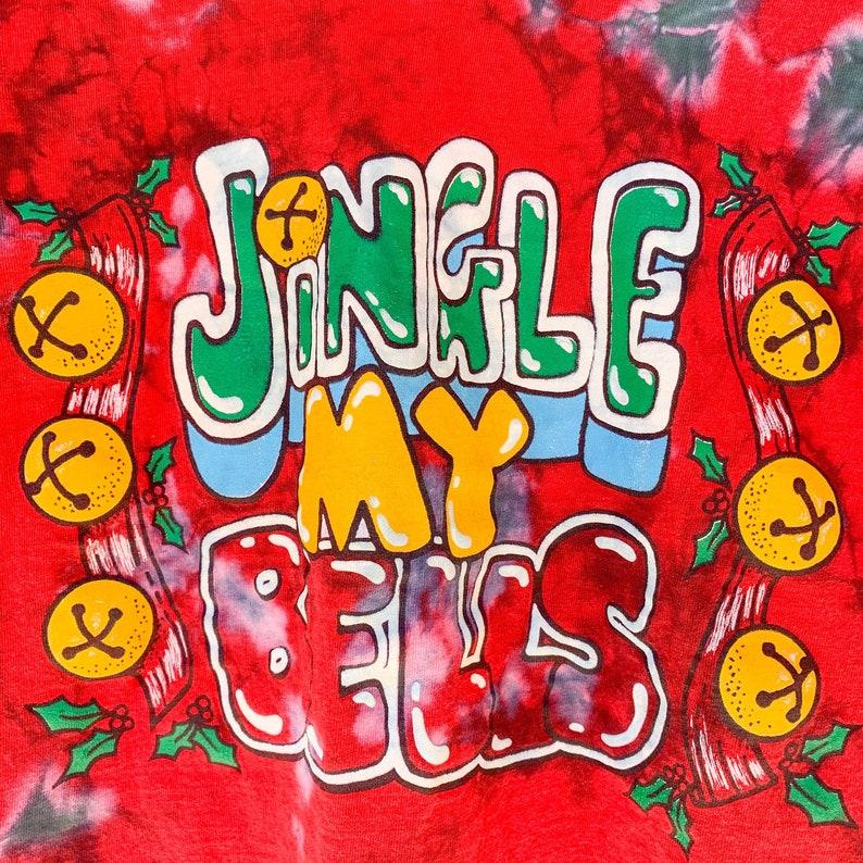 Tie Dye Funny Christmas T-Shirt  Tie Dye Jingle My Bells Shirt  Adult Christmas Shirt