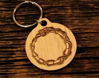 Ouroboros Engraved Keychain 05bf60993