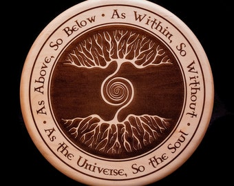 As Above, So Below, Engraved Solid Maple Wall Art