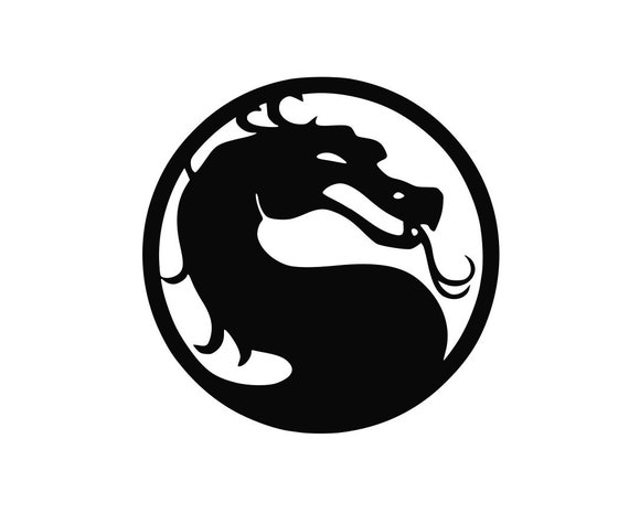 Mortal Kombat Logo Decal Car Window Sticker Etsy