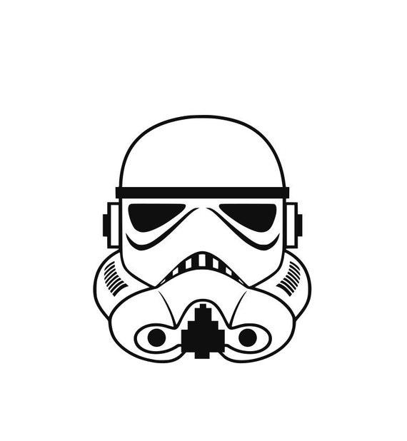 Star Wars Stormtrooper Helmet Decal Car Window Sticker Etsy