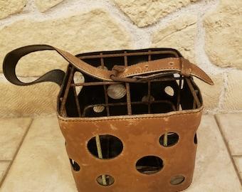 Vintage bottle holder imitation leather