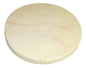 "Natural Pizza Stone 12"" / 30 cm Natural Soapstone Cook Pizza Japatti Bread Tortilla Meat Fish Bagels"