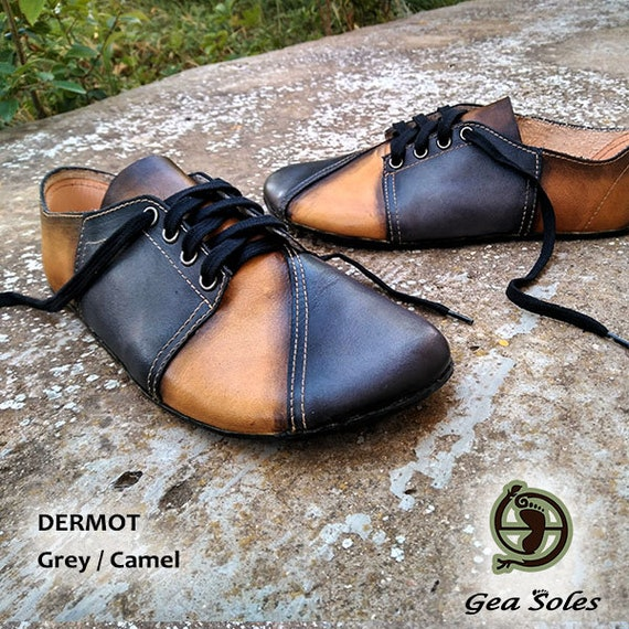 Minimalistische Barefoot nul drop aarding aarding Handmade Vegetable gelooid leder chroom gratis schoenen Hand geverfd lederen enige mannen vrouwen