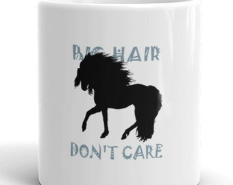 Mug, horse mug, big hair, coffee mug, horse, Horse coffee mug, horse tea mug, mare, horse cup ,horse rider, funny horse, equestrian gift,
