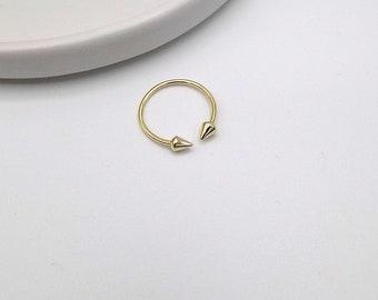 925 Sterling Silver Open Spike Ring (11-3960)