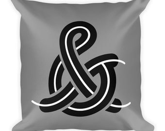 Ampersand - & - Square Throw Pillow