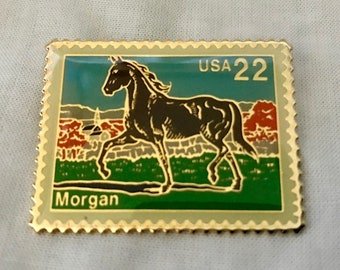 Morgan Horse Postage Stamp Lapel Pin - USPS 1985 - USA 22