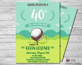 Golf Invitation Party Invite Birthday Printables Photo Personalized