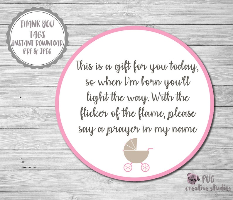 photo regarding Printable Baby Shower Labels named Youngster Shower Labels, Child Shower Candle Label, Printable Child Shower Labels, Boy or girl Female Shower Want Tag, Thank Oneself Youngster Shower Tag