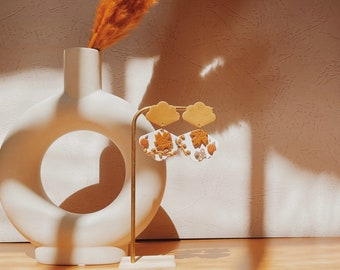 Fall Clay Earrings • Autumn Statement Polymer