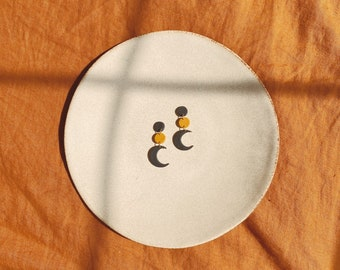 Halloween Clay Earrings • Crescent Moon